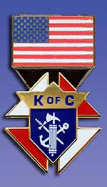 "PG746-USA - USA Flag Emblem of the Order (1"")"