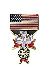 "USA Flag/ Fourth Degree (1"")"