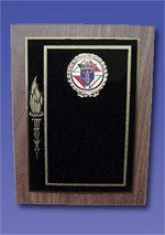 No. PN-2889 - Gold Torch Plaque