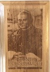 P444 - Saint John Paul II Wood Plaque