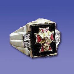 Fourth Degree with  Onyx Stone and Diamonds