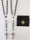 K of C Rosary with Case