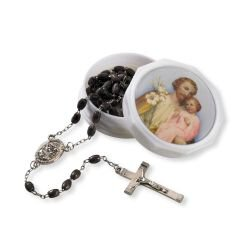 St. Joseph Rosary with Two Piece Case
