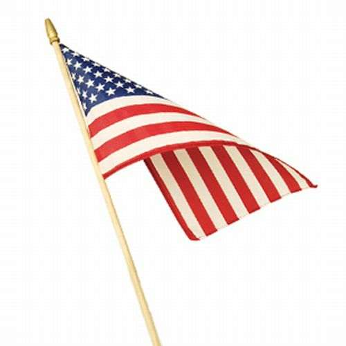 No. GM-FLAG - U.S. Flag on wooden dowel